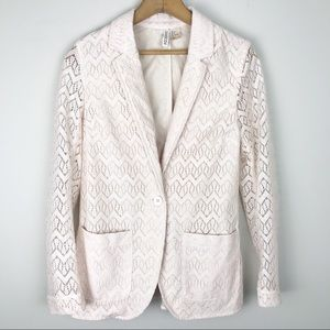 H&M • Blush Lace Blazer